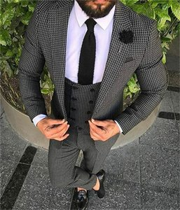 New Arrival Groomsmen Notch Lapel Groom Tuxedos One Button Men Suits Wedding Prom Dinner Best Man Blazer ( Jacket+Pants+Tie+Vest ) K651