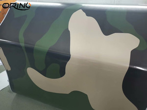 Large Black Green Vinyl Camouflage Pattern Car Wrap Foil with Air Bubbles Free Vehicle Car Sticker Wrapping