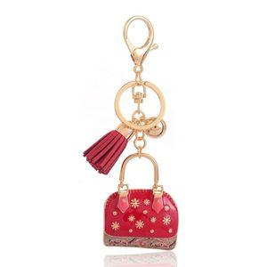 Designer Key Ring New Charms Red Bag Keychain for Men Women Handmade Fashion Enamel Key Chain Ring Holder Jewelry Birthday Gifts