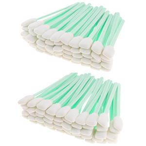 100 Pack 5 \ '\' lungo 50 pezzi in schiuma di pulizia di punta tamponi spugna Stick per getto d'inchiostro testina ottica di pulizia dell'obiettivo Resistenza ai solventi