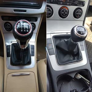For Volkswagen VW Passat B6 2005-2011 Car Styling Accessories Gear Shift Knob Gaiter Boot Cover Frame Case Lever Stick Pen