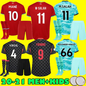 LVP Mohamed M. SALAH FIRMINO soccer jersey football shirts 20 21 VIRGIL MANE KEITA 2020 2021 Liverpool Men + Kids kit uniformsys azul Camiseta de futbol