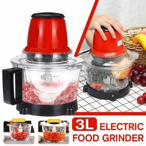 3L قوية المعالج مفرمة اللحم متعدد الوظائف المنزلية المطحنة الكهربائية اللحوم القاطع خلاط الخضار الثوم المروحية