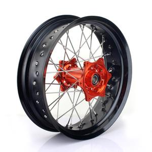 """BIKINGBOY 3.5 * 17"""" 36 Spokes MX Süpermotor Ön Jant Hub için EXC 300 04-15 EXC-F 350 12-15 EXC-F 450 03-15 SX450 03-06"""