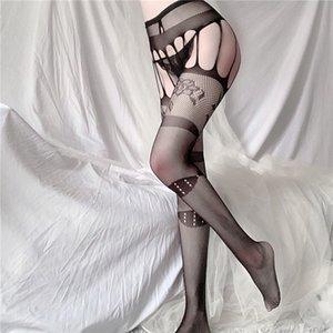 sexyLong ночь, одно поколения, сексуальное нижнее белье, полые подтяжки, жаккардовые брюки, основывая колготки, большая сетка ажурных носков