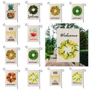 fashion Garden Flag garden sign summer welcome yard outdoor party pineapple decoration Banner Flags 47*32CM T2I51434