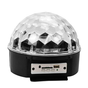 RGB LED Bluetooth Speaker Crystal Magic Ball Stage Light MP3 USB Disco Light Speaker Disco Ball Projection Lamp Party