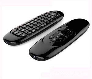 스마트 TV 미니 PC를위한 자이로 스코프 플라이 에어 마우스 C120 무선 게임 키보드 안드로이드 리모콘 충전식 키보드