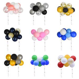 1 set 10pcs creativi 5inch Forniture Palloncino cake topper festa di compleanno del bambino della decorazione doccia Wedding Cake fai da te Balloon Toppers