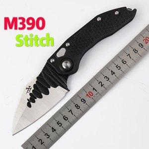 Microtech puntada aleta plegable mango M390 aluminio de la lámina exterior caza táctica acampar EDC herramienta de Micro Utilidad EDC cuchillo de las herramientas Collect