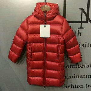 Winter Children Mid Length Down Jacket Red Girl Down Jacket Children Designer Clothing White Duck Down Warm And Comfortable Childrens Jacket
