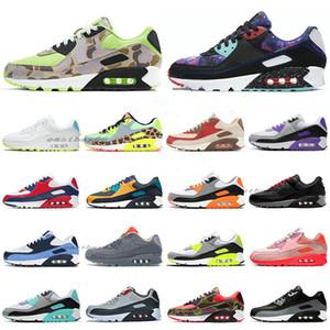 90 pas cher Classique Hommes Femmes Chaussures de course 90 Chaussures Camo Dance Floor vert Supernova Triple Noir Hommes Formateurs Sports de plein air Chaussures de sport