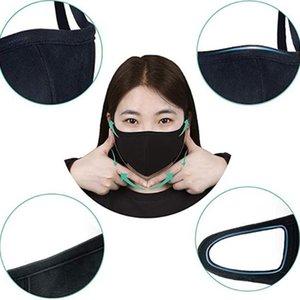 Diseñador del respiradero Algodón 5 del polvo anti Haze Color Negro de gran tamaño Hombre boca rosada Las mujeres forman la mascarilla de Dhe130