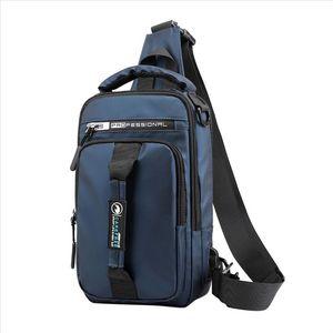 high quality Fashion canvas Men Fashion Outdoor Oxford USB Versatile Shoulder Bag Messenger Bag Chest Bag 67