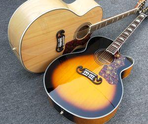 Cutaway solid spruce J200 Acoustic guitar Tortoise Pickguard Factory custom Maple J200vs guitarra