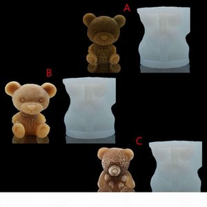 Baby Bear Craft Art Silicone Soap Candle Tray Resin Casting Silicone Molds