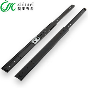 2 Fold 15 inch Travel Length 11inch Normal Close Ball Bearing Telescopic Channel Drawer Slide