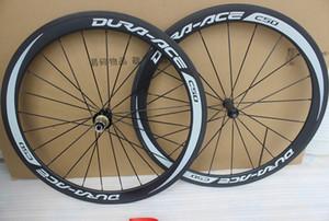 Dura ace c50 700C Bicicleta de carreras ruedas de carbono de 50 mm de camino del carbón de bicicletas de ruedas anchura remachador 23 mm con la superficie del freno del basalto