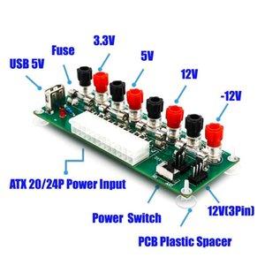 Circuito elettrico 24Pins ATX da banco Computer Power Supply ATX a 24 pin del modulo breakout board connettori a spina CC con porta USB 5V