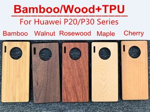 Bamboo Wood Case+TPU for Huawei P20 P20 PRO P30 P30 PRO Mate20 Mate30 Series Smartphone Shell Anti-drop and Shockproof Protecior