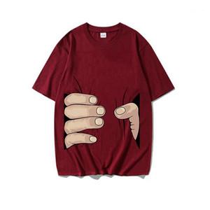 Casual Street Style Sample manches courtes avec capuche Hommes T-shirts Les hommes Vêtements décontractés Creative Imprimé Mens Designer T-shirts d'été