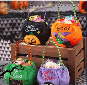 Halloween 2020 Pumpkin Candy Cute Gift Bag For Kids Trick Or Treat Festival Party Favor Halloween Party Decoration Supplies