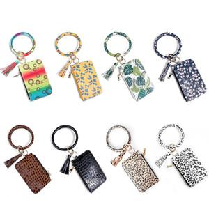 Yeni Cüzdan Anahtarlık Bileklik Bilezik Kadınlar Papatya Yaprağı PU Deri Püskül Kabaw Coin Çanta Moda Erkek Anahtarlık Tutucu Araç Anahtarlık Ring Charm