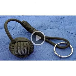 Freies Verschiffen Art und Weise billig Überleben paracord Bralet paracord Affe Faust keychain Kern Acryl (Kunststoff) Kugeln