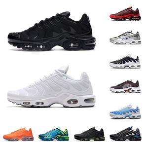Nike Air max TN Plus  Inoltre 2020 uomini pattini correnti delle donne dimensione Triple bianco nero Sport Nero Volt Solar Red Sneakers Fade Blu Rosa 36-45