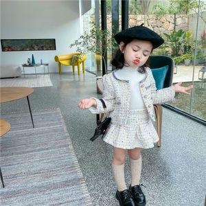 Children Clothes Set 2020 Autumn New Long Sleeve Sweet Fashion Coat+Skirt 2Pcs Toddler Kids Clothes X0923