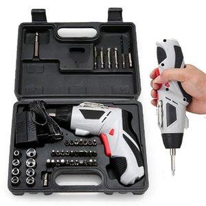 4.8V электрическая отвертка Аккумуляторная дрель с 45 Bits Mini Wireless питания с LED Light Multi-Function House электроинструментов