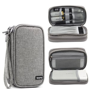 Travel Digital Cable Organizer Bag Electronic Accessories Case SD Card Flash Drives Wires Earphones Double Layer Storage Bag