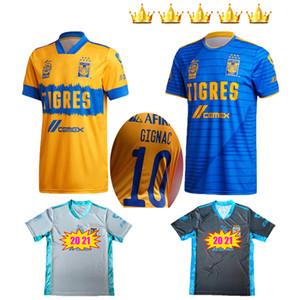 2020 2021 Tigres UANL soccer jerseys 20 21 Yellow 7 Stars GIGNAC E.VARGAS Vargas goalkeeper SOSA away Camisetas de futebol football shirt