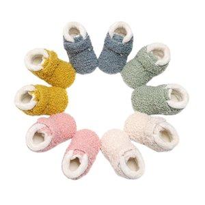 Küçük Bebek Fleece Terlik Yumuşak Kış Sıcak Patik Beşik Basit Kolaylık Ayakkabı Bebek Kaymaz Prewalker