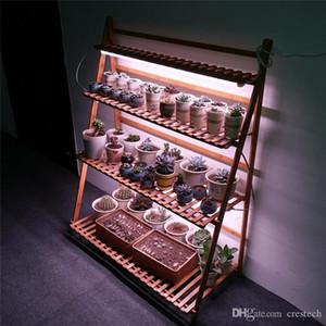 1 ft 2 ft 3 ft T8 LED Çiçek Raf, Çift Sıra T8 UVA Etli Bitkiler Çiçek Raf Tam Spectrum için Tüp Şerit Bar büyümek için Grow Işıklar