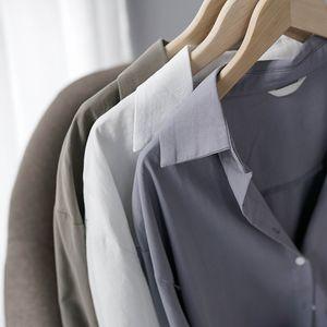 Lizkova 100% Cotton White Blouse Women Long Sleeve Oversized Shirt Autumn Japenese Lapel Ladies Casual Tops 8887 200924