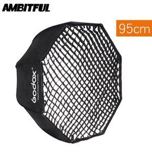 "Godox Портативный 95см 37,5"" Рефлектор Softbox Umbrella Softbox + Honeycomb Сетка для флэш Speedlight"