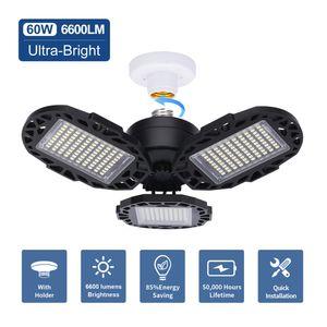 Luci di soffitto Luce Garage LED 60W 100W 120W 6000K deformabile LED Garage, CRI80 condotto le luci Negozio di Garage, Scantinato, Magazzino