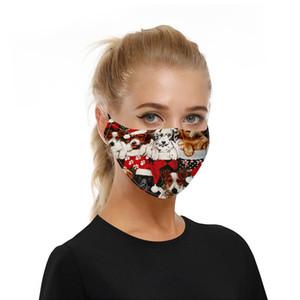 Christmas Face Mask for Women Washable Designer Masks Dog Print Reusable Adult Mask Protection Face Covering Mascherine