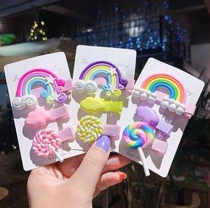 clip di tornanti copricapo lato Candy rete Net colore rosso tornante caramelle carino principessa testa accessori per capelli di colore del bambino della clip OPJzN bambini coreani