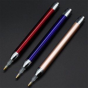 LED diamant peinture Drill stylo broderie point Drill Pen 5D bricolage strass Photos éclairage diamant Stylos DHF1111