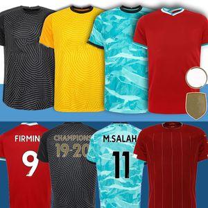 2020 LVP Mohamed M. SALAH FIRMINO camisa de futebol football kit Liverpool ROBERTSON VIRGIL MANE KEITA MILNER HENDERSON Liverpool Homens