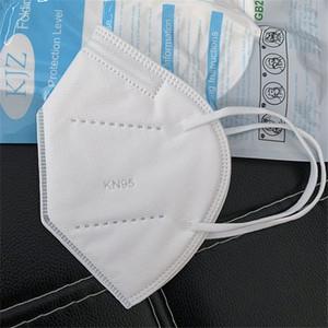 kn95 maschera FFP2 maschera viso maschera per adulti e getta progettista non tessuti maschere antipolvere antivento in tessuto protettivo respiratore Blu Nero Bianco
