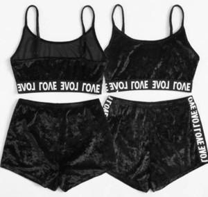 2pcs Velvet Sleepwear Sets Womens Nightwear Two Piece Suits Summer Spaghetti Strap Shorts Girl Sexy Underwear Pajamas Set