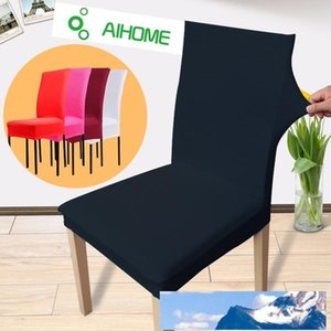New Arrival Fashion Dining Chair Covers Spandex Strech Dining Room Chair Protector Slipcover Decor Free Shipping