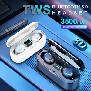 Lovebay F9-8 sans fil Bluetooth écouteurs 5.0 LED affichage tactile 9D stéréo Sport Musique Casque étanche
