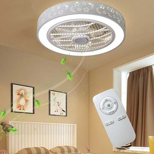 Modern Bedroom Bedroom Ceiling Fan Light Quiet Invisible Personality Circulation Air Suction Integrated Remote Control Lighting