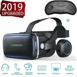 VR 6.0 Virtual Reality Auricolare Versione Virtual Reality Occhiali Occhiali 3D auricolare Caschi Smartphone completa Package + controller LJ200917