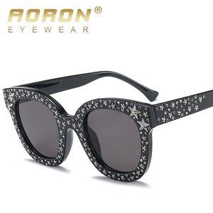 AORON rosa Strass Sonnenbrille Stern Männer unisex braun weiß große Designer schwarze Farbtöne für Frauen, weibliche uv400