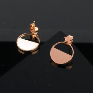 Stud Xuanhua en acier inoxydable Boucles d'oreilles pour les femmes 2020 Bijoux en or rose Brincos Earings bijoux à la mode coréenne géométrique errements